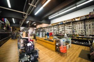 Wide store shot at airsoft wall